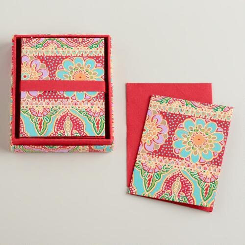 Gia Handmade Boxed Notecards, Set of 8