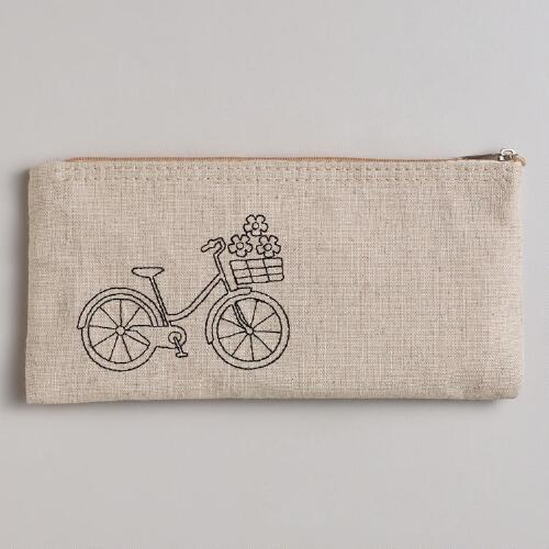 Bike Canvas Pencil Case