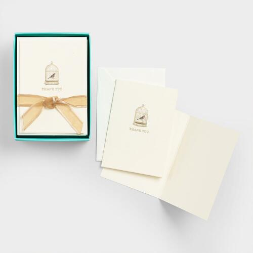 Le Petite Birdcage Boxed Thank You Cards, Set of 10