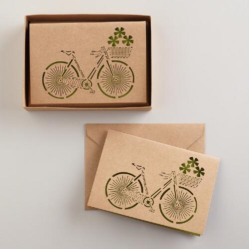 Laser Cut Bike Notecards, Set of 8