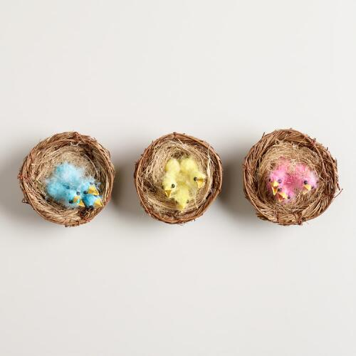 Baby Bird Nests, Set of 3
