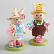 Rabbit Nutcrackers, Set of 2