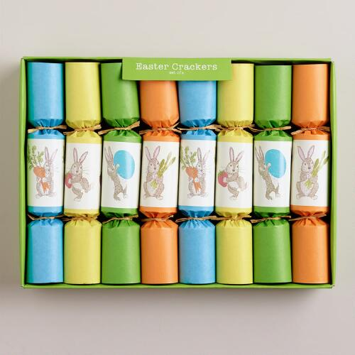 Easter Party Crackers, Set of 8
