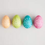 Painted Wooden Eggs, Set of 12
