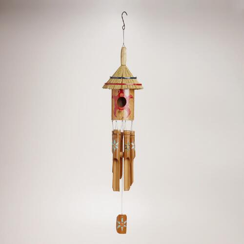 Bamboo Tiki Turtle Hut Wind Chime