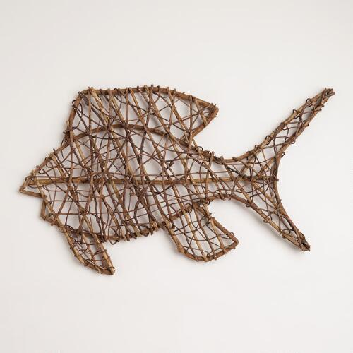 Fish Twig Wall Decor