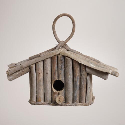 Driftwood Birdhouse Decor