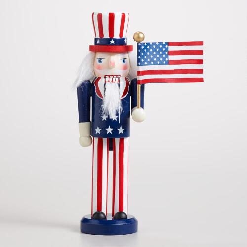 Mini Wood Uncle Sam Nutcracker