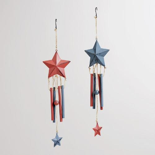 Patriotic Stars Wind Chimes