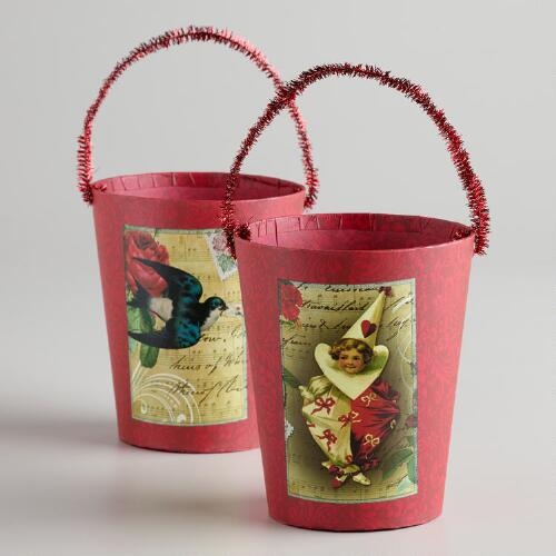 Vintage-Inspired Containers, Set of 2