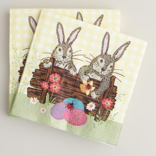 Bunny Beverage Napkins, 16-Count