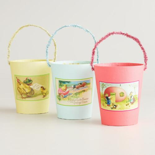 Vintage-Inspired Easter Containers, Set of 3