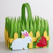 Large Felt Rabbit Picket Fence Container
