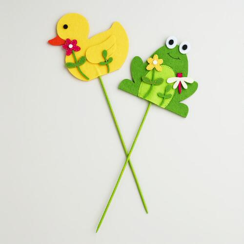 Duck and Frog Picks, Set of 2