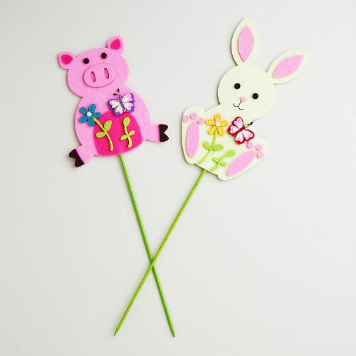 Pig and Bunny Picks, Set of 2