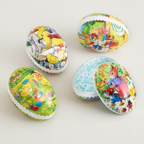 Small German Nesting Egg Containers, Set of 4