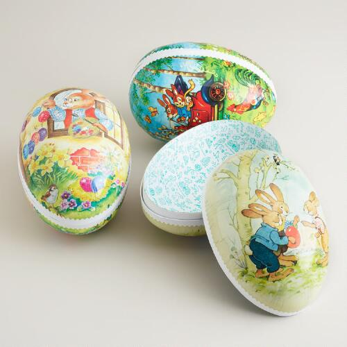 Large German Nesting Egg Containers, Set of 3