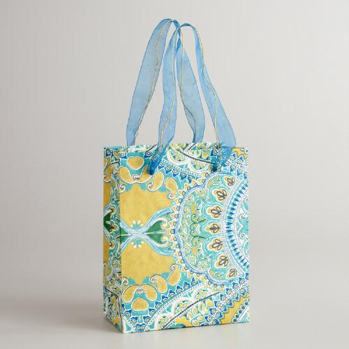Small Turquoise Venice Gift Bag