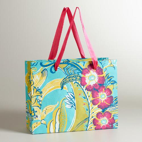 Large Rectangle Gemma Flower Gift Bag