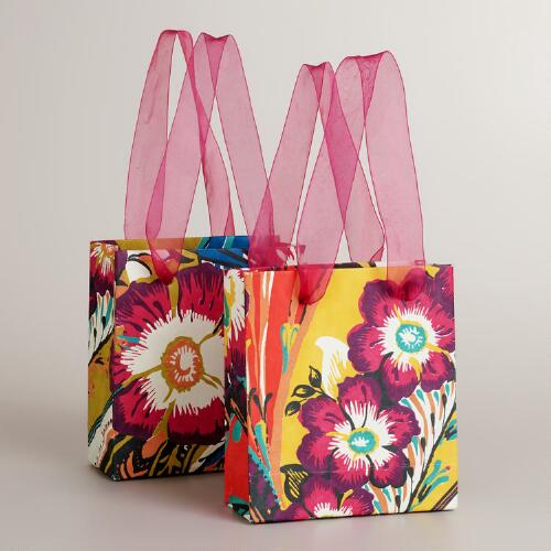Mini Gemma Flower Gift Bags, Set of 2