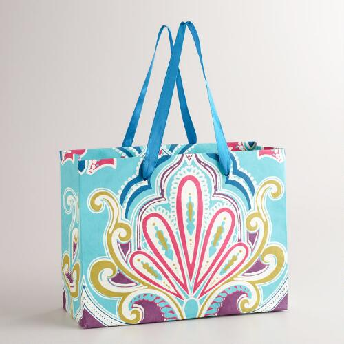 Small Blue Rectangular Venice Gift Bag