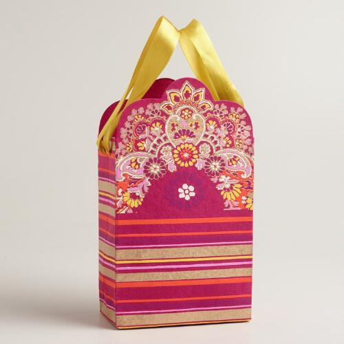 Slim Stripe Die-Cut Bordered Gift Bag