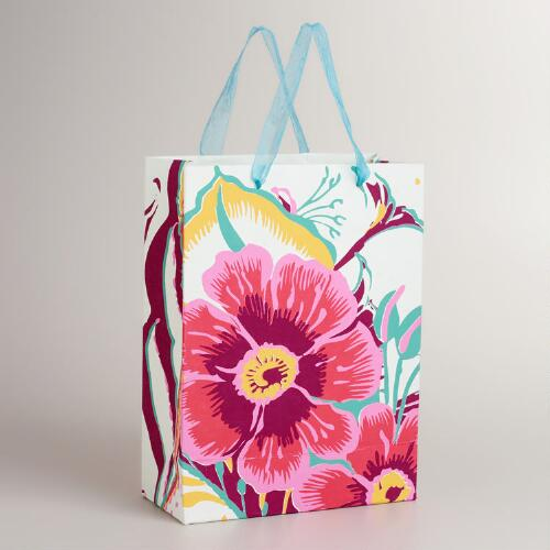 Large Pink Flower Gift Bag