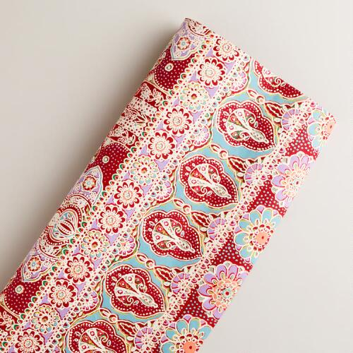 Pink Floral Giftwrap Roll