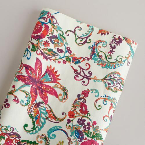 Ivory Paisley Giftwrap Roll