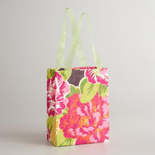 Small Pink Flower Gift Bag