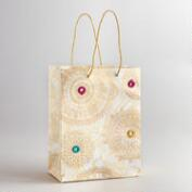 Small Ivory Mirror Gift Bag