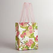 Small Green Poppy Gift Bag