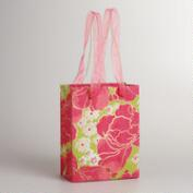 Small Pink and Green Spring Print Gift Bag