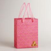 Small Dark Pink Sequined Flower Gift Bag