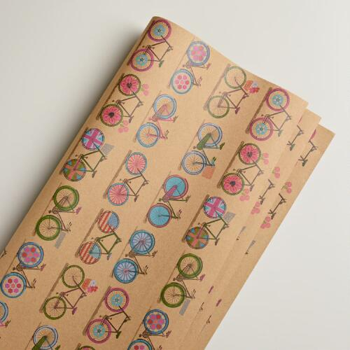 Spring Bicycles Giftwrap Roll