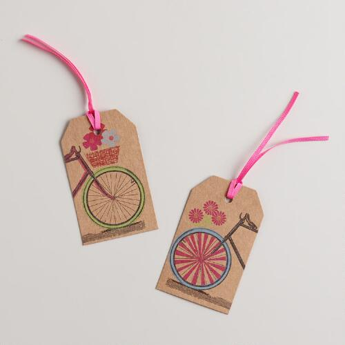 Spring Bicycles Gift Tags, Set of 6