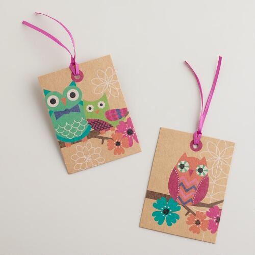 Owl Gift Tags, Set of 6