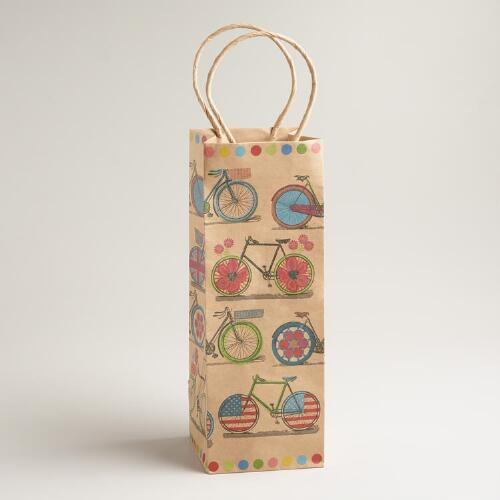 Spring Bicycles Wine Bag