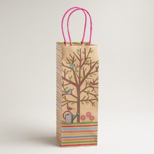 Birds in a Tree Wine Bag