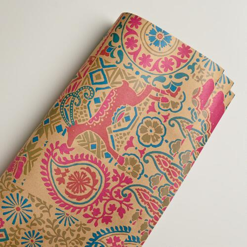Global Elephant Kraft Giftwrap Roll