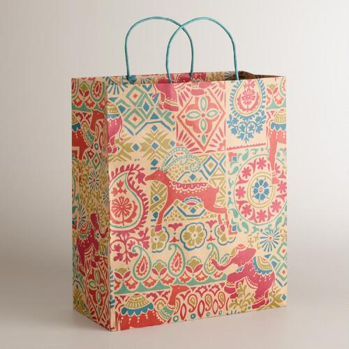Extra Large Global Elephant Gift Bag