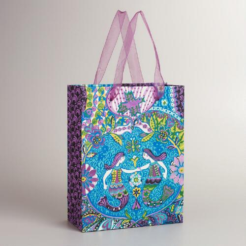 Large Purple Las Sirenas Gift Bag