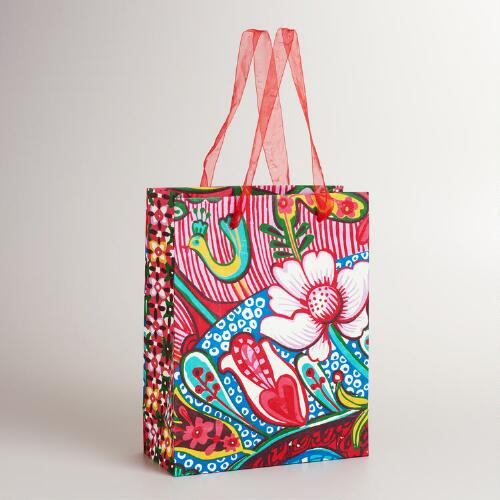 Large Floral Aegean Shore Gift Bag