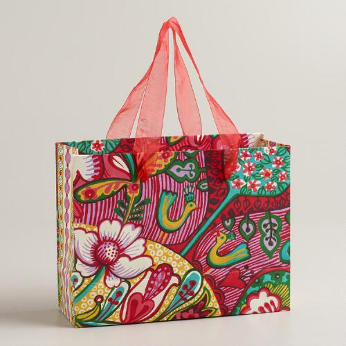 Small Rectangular Floral Aegean Shore Gift Bag
