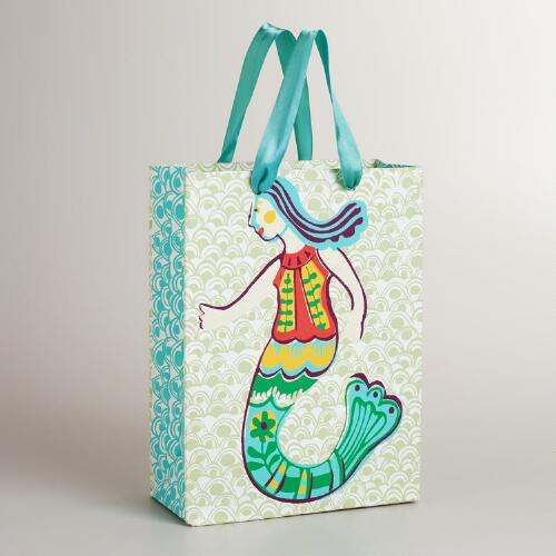 Large Turquoise Mermaid Gift Bag