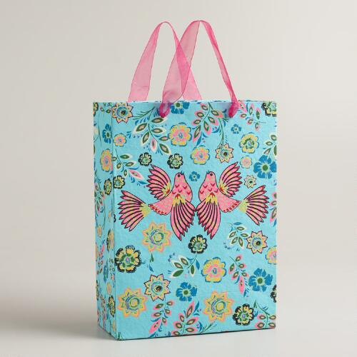 Large Love Birds Aegean Shore Gift Bag