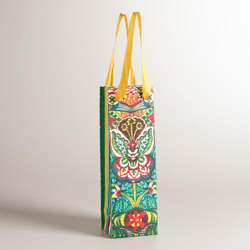 Flower Aegean Shore Wine Bag
