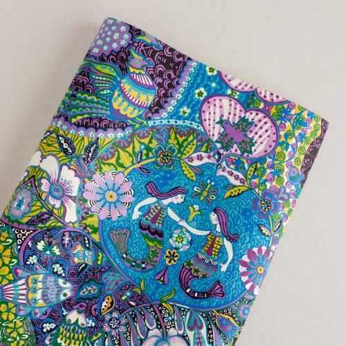Purple La Sirenas Giftwrap Roll