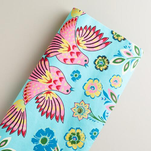 Love Birds Aegean Shore Giftwrap Roll