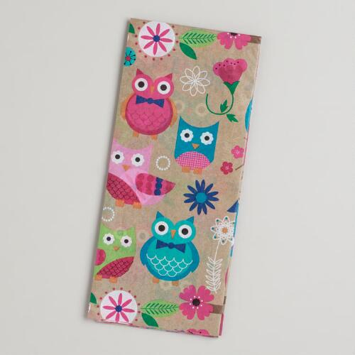 Spring Owls Giftwrap Tissue